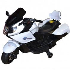 Motocicleta cu acumulator si 2 motoare - Alb
