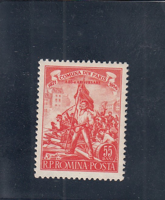 ROMANIA 1956  LP 405  A 85 - a ANIVERSARE A COMUNEI DIN PARIS MNH