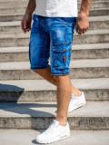 Cumpara ieftin Pantaloni scurți de blugi cargo bleumarin Bolf KR1076-2