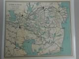 Harta Delta Dunarii 1935, 30x35 cm, Romania Mare, impecabila, foarte detaliata