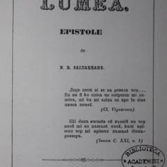 LUMEA. EPISTOLE - N . R . SALTAREANU