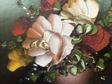 Tablou,pictura miniaturala in ulei pe lemn