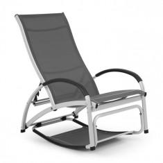 Blumfeldt Beverly Wood, leagăn de soare, scaun balansoar, aluminiu, gri