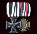 Bareta Crucea de Fier si Crucea de Onoare Hindenburg WW1 originala medalie veche