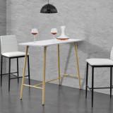 [en.casa]® Masa bar Enkoping Weib, 110 x 50 x 90 cm, MDF/metal, alb HausGarden Leisure, [en.casa]