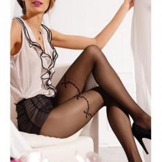 Ciorap pantalon de dama cu model fin, fibre cu aspect mat