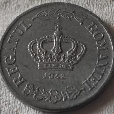 Moneda ISTORICA 5 LEI - ROMÂNIA, anul 1942 *cod 490 - zinc