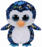 Jucarie de plus TY 24 cm - Pinguin Payton cu paiete