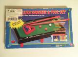 * Joc biliard mini, pentru copii, Deluxe Snooker & Pool Set, 22x13 cm