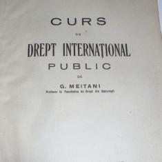 carte veche drept 1930 international Meitani