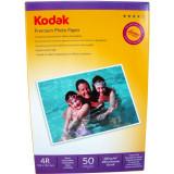 Hartie foto Kodak Premium Glossy 4R, 200 g/mp, 50 coli/pachet