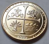 25 cents / quarter 2019 SUA, Texas, San Antonio Missions, litera D, America de Nord