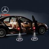 Proiector logo auto holograma 3D LED CREE 7W, fixare portiera, set 2 bucati
