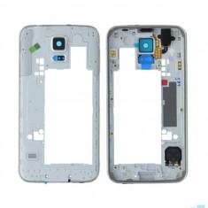 Mijloc Samsung Galaxy S5 SM G900F Argintiu