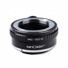 Kent Faith M42-EOS M adaptor montura de la M42 Mount la Canon EOS M cu adaptor pentru trepied