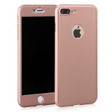 Cumpara ieftin Husa Apple iPhone 8 Plus, FullBody Elegance Luxury Rose-Gold, acoperire...