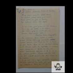 Manuscris/ Articol scris si semnat de Gheorghe Tomozei - 6 pagini