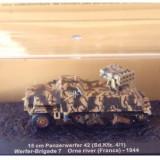 Macheta tanc 15 cm Panzerwerfer 42 Orne river France 1944 scara 1:72