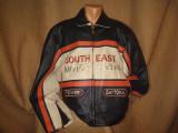 Geaca moto/motor/piele naturala/ barbati/SOUTH EAST MOTOR CYCLES/noua/motocilist, XXL