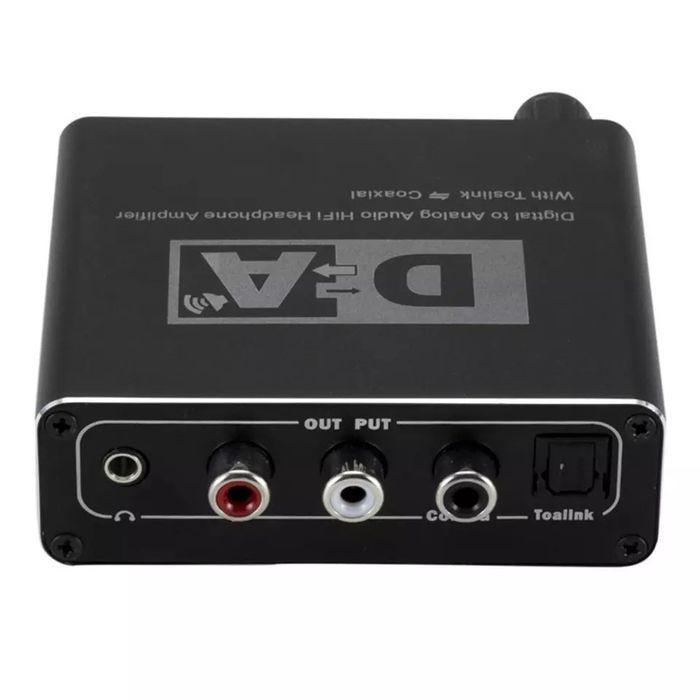 Convertor audio digital analog 192kHz toslink optic rca