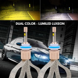 Instalatie LED COMBO FOG LumiLed (Alb + Galben) H7, 80W, 5500 Lumeni 9-32V