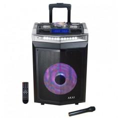 Boxa activa portabila akai dj-6112bt cu dj mixer bluetooth dual