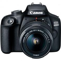 Aparat foto DSLR CANON EOS 4000D, 18 MP, Wi-Fi, negru + Obiectiv 18-55mm NOU