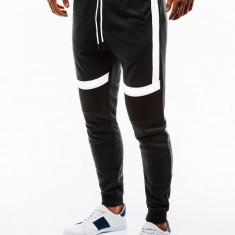 Pantaloni barbati de trening negru slim fit sport street model nou P737