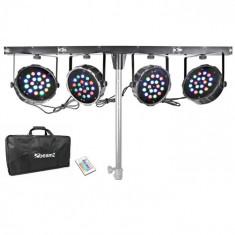Beamz Mahala 4-way kit 18 x 1W LED-uri RGB DMX T-bar Toc