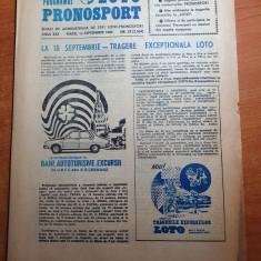 revista programul loto-pronosport 13 septembrie 1983