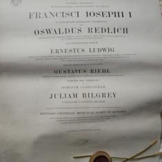Diploma de Doctorat in Medicina a Universit. din Cernauti , 1912 , hart. textila
