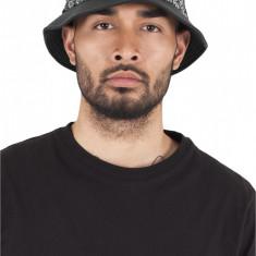 Bandana Leather Imitation Brim Bucket Hat