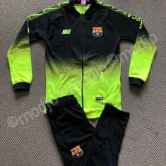 TRENING cu pantaloni conici pentru COPII 9-16 ANI FC BARCELONA SUPER CALITATE, XS, YXL, YXXL, Albastru, Verde, Baieti