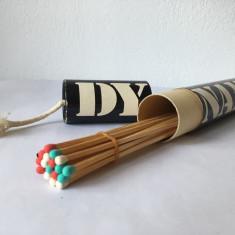 Cutie chibrite colectie, vintage, DYNAMITE, cutie cilindrica 30cm, Made in Japan