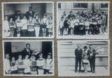 Lot 4 fotografii cu premianti din perioada comunista