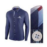 Camasa pentru barbati bleumarin slim fit Leon Classic