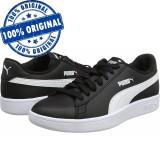 Pantofi sport Puma Smash 2 pentru barbati - adidasi originali - piele naturala, 38, 38.5, 44.5, 45, 46, Negru