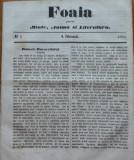 Foaia pentru minte , inima si literatura , nr. 5 , 1863 , poezie Bolintineanu