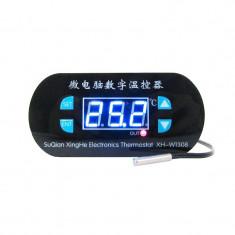Modul Controller de Temperatură W1308 cu Afișaj Albastru (Termostat), Alimentare la 220 V