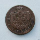 ROMANIA  -  5 Bani 1884