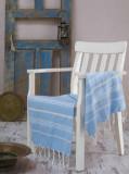 Prosop de plaja, Eponj Home, 336EPJ1350, 100 x 180 cm, Albastru