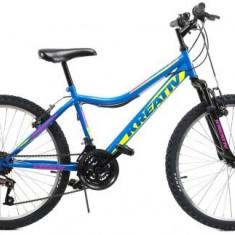 Bicicleta Copii Kreativ 2404, Cadru 15inch (Albastru)