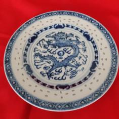 Farfurie de colectie portelan vechi Chinezesc bob de orez