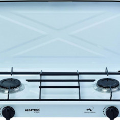 Plita independenta pe gaz Albatros APG21W 2 arzatoare Alba
