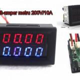 Voltmetru Ampermetru Voltampermetru de panou 200V 10A afisaj dublu