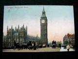 London Wetsminster Bridge, carte postala 1906