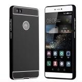 Cumpara ieftin Husa Telefon Bumper Metalic + Spate Huawei P8 Lite Black