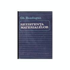 gh. buzdugan rezistenta materialelor 1986