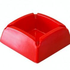 Scrumiera patrata melamin culoare rosie 9,5x9,5cm MN0198531 Raki