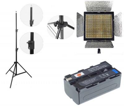 Kit lumina continua Lampa Yongnuo YN600L II+ 2x Acumulatori Dste NP F+ incarcator+ stativ foto